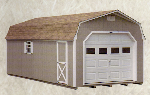 Small shed garage doors